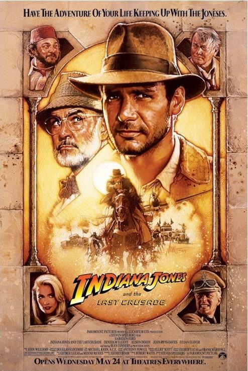 Poster INDIANA JONES - the last crusade one sheet 2