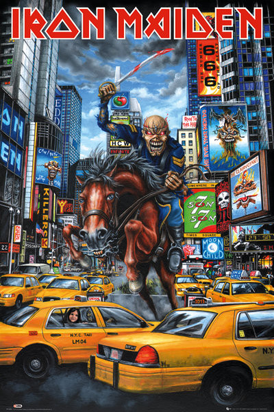 Poster Iron Maiden - new york