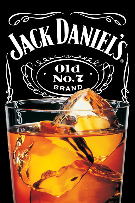 Jack Daniel's - on the rocks Poster
