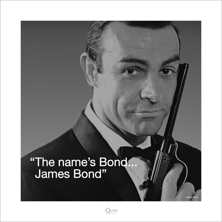 James Bond 007 - Iquote  Kunstdruck