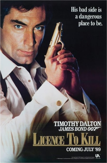 Poster JAMES BOND 007 - licence to kill