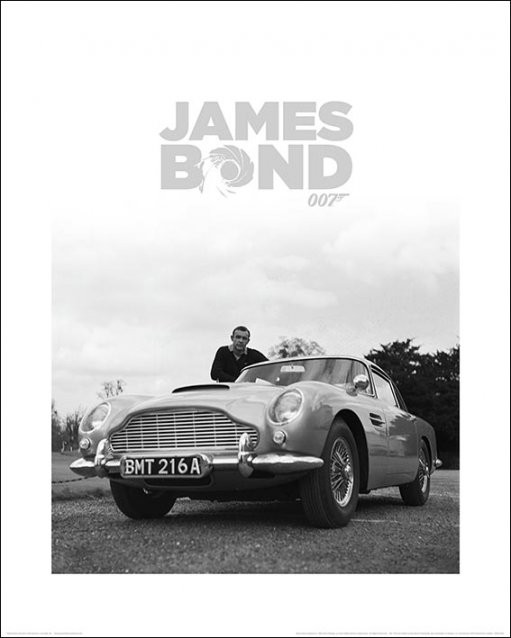 Konsttryck James Bond - Shean Connery