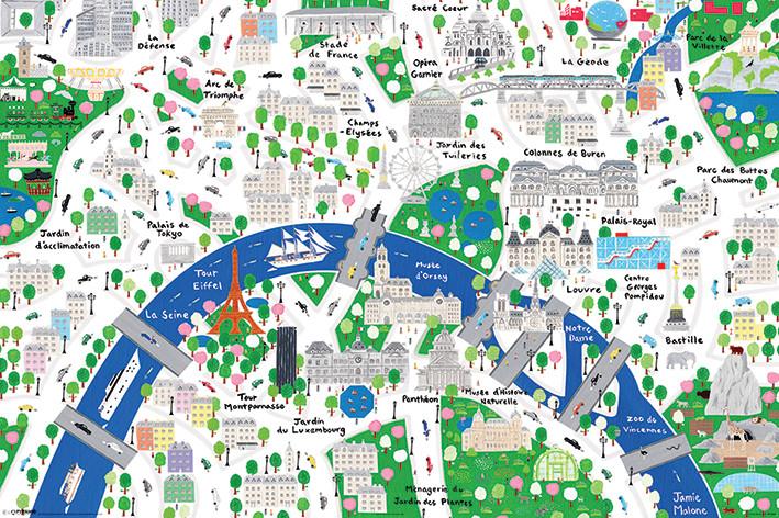 Poster Jamie Malone - Paris