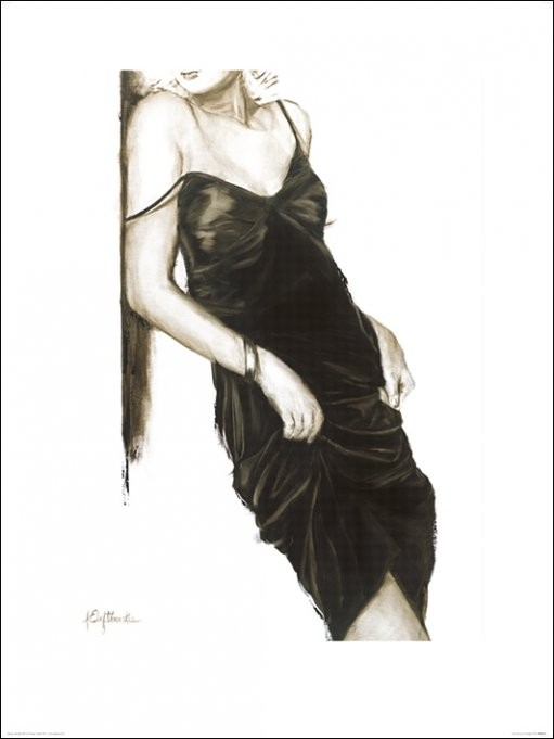 Janel Eleftherakis - Little Black Dress I Kunstdruck