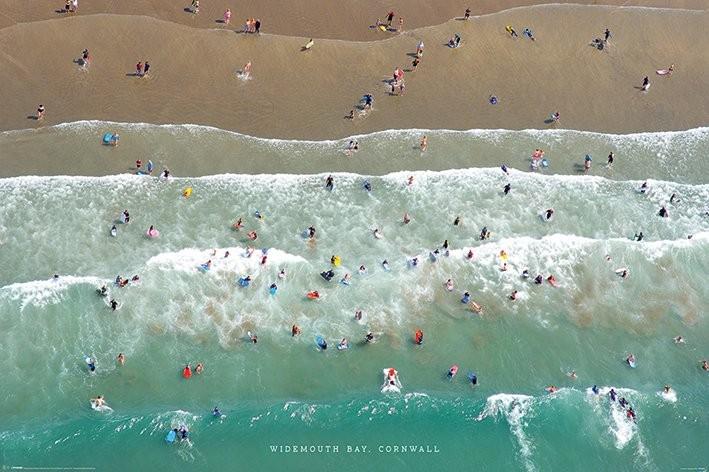Poster Jason Hawkes - Widemouth Bay, Cornwall