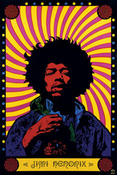 Poster Jimi Hendrix - psychedelic