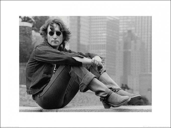 John Lennon - sitting Kunstdruck