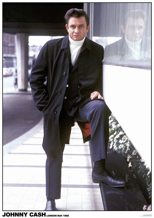Póster Johny Cash - London 1968