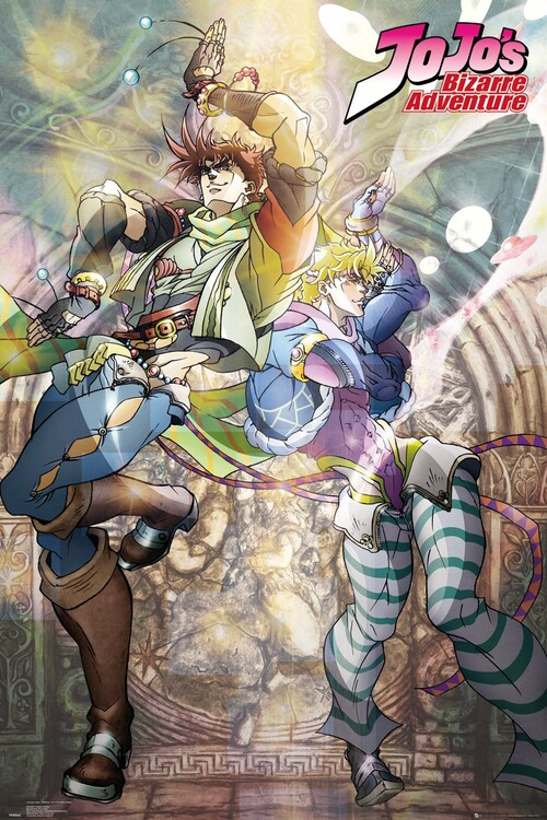 Poster Jojo's Bizarre Adventure - Joseph and Ceasar