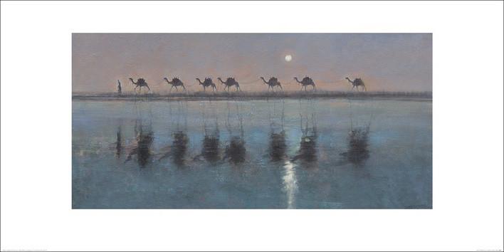 Jonathan Sanders - Jade Sea Reflections Kunstdruck