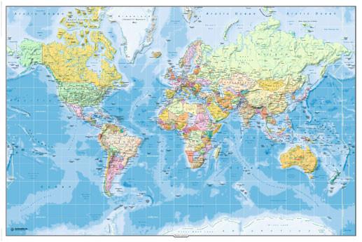 Poster Karte von Welt, Weltkarte - Politische Karte 2011