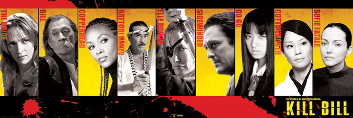 Poster KILL BILL - Cast