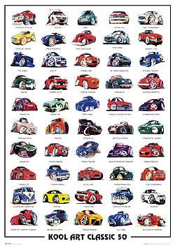 Poster Koolart classic 50 - autíčka