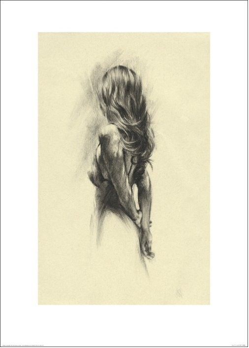 Konsttryck Kvinna - Back