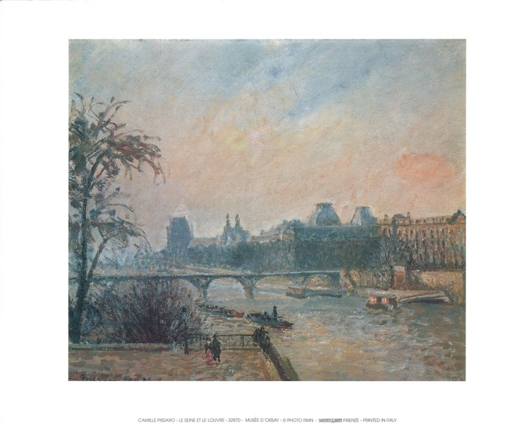 La Seine et le Louvre - The Seine and the Louvre, 1903 Kunstdruck