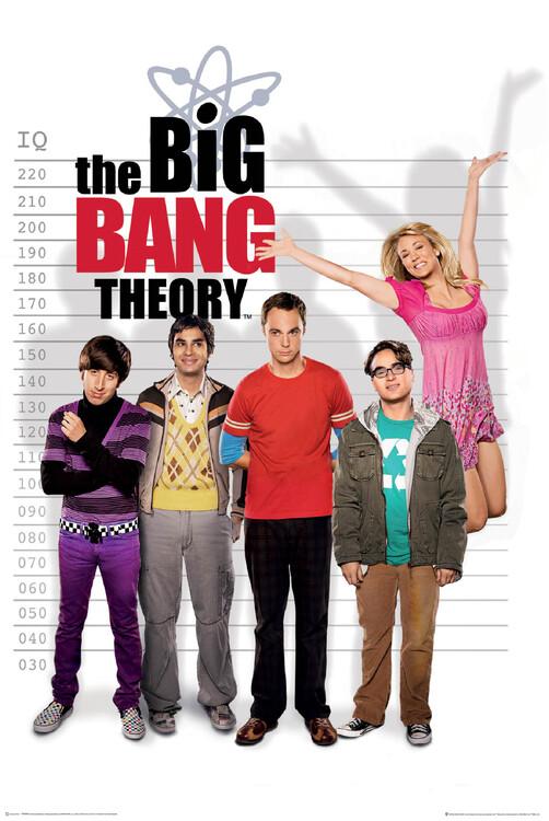 Póster La teoría del Big Bang - Medidor de coeficiente intelectual