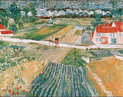 Konsttryck Landscape at Auvers after the Rain, 1890 (part.)