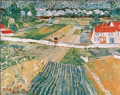 Landscape at Auvers after the Rain, 1890 (part.) Kunstdruck