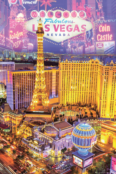 Poster Las Vegas - collage