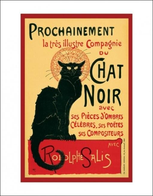 Le Chat noir - Steinlein Kunstdruck