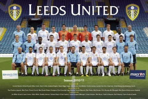 Poster Leeds United - Team photo 10/11