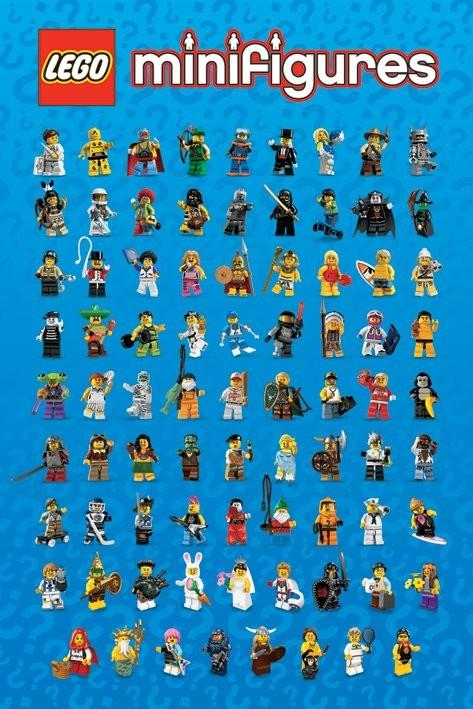 Poster LEGO - mini figures