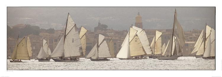 Les voiles de Saint-Tropez Kunstdruck