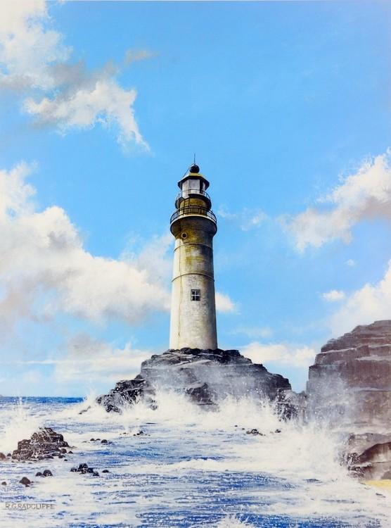 Lighthouse on the Rocks Kunstdruck