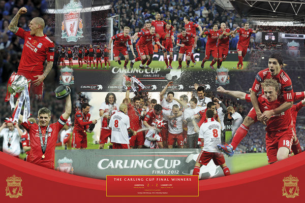 Poster Liverpool - cup winners