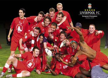 Poster Liverpool - Euro celebration