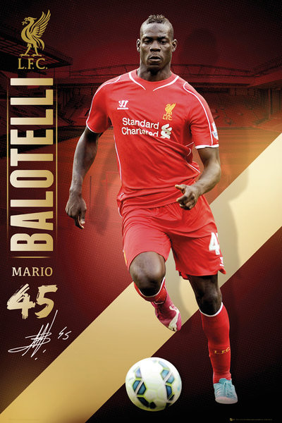 Poster Liverpool FC - Balotelli 14/15