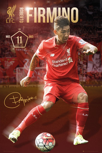Poster Liverpool FC - Firmino 15/16
