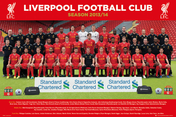 Poster Liverpool FC - Team Photo 13/14