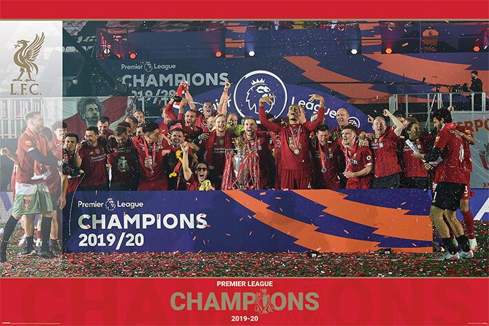 Póster Liverpool FC - Trophy Lift