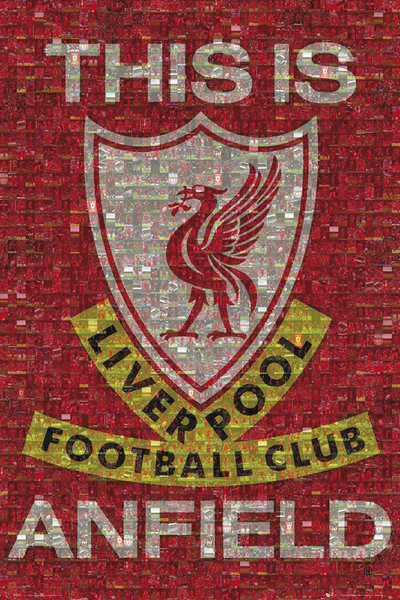 Poster Liverpool - mosaic