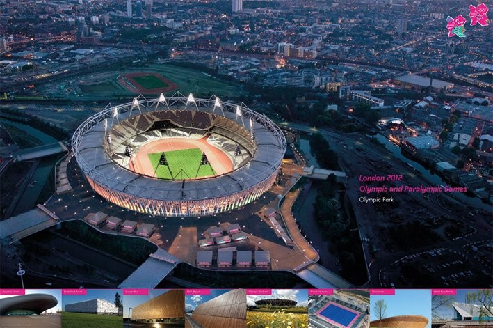 Poster LONDON 2012 - olympic venues