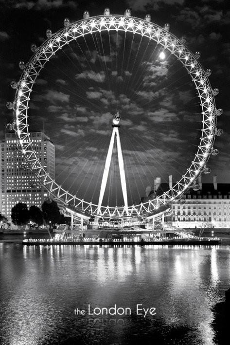 Poster London - The London Eye