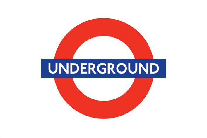 Poster London underground - logo