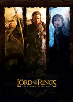 Lord of the Rings - trio poster