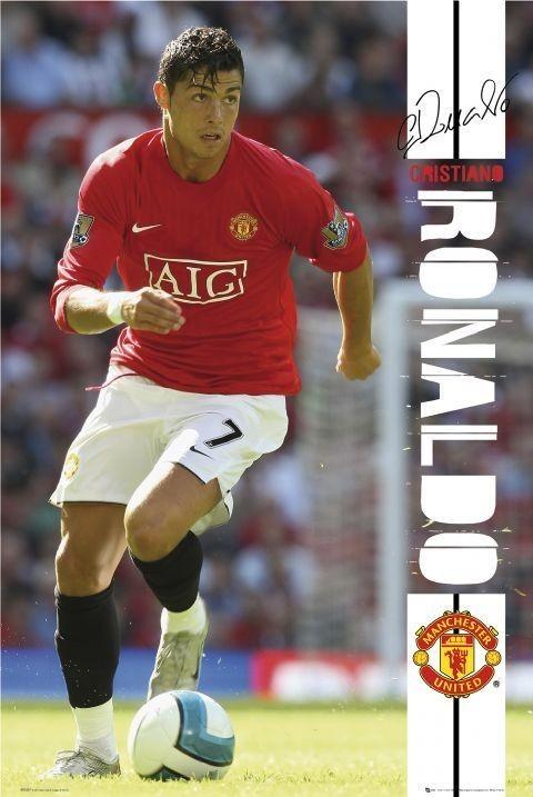 Poster Man UTD - Ronaldo 07/08