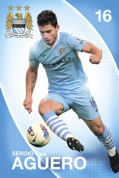 Poster Manchester City - Aguero 11/12