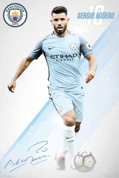 Poster Manchester City - Aguero 16/17
