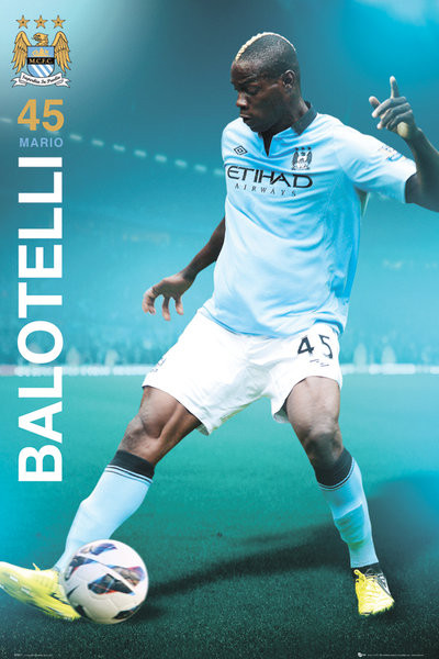 Poster Manchester City - Balotelli 12/13