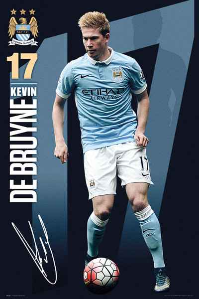 Poster Manchester City FC - De Bruyne 15/16