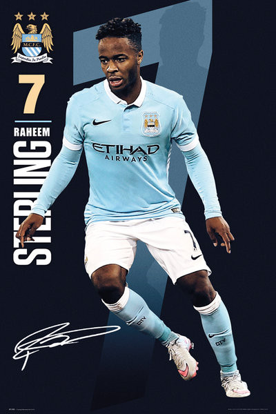 Poster Manchester City FC - Sterling 15/16