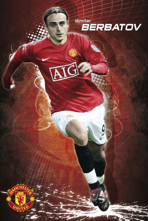 Poster Manchester United - berbatov 08/09