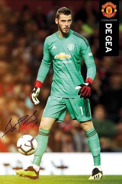 Poster  Manchester United - De Gea 18-19