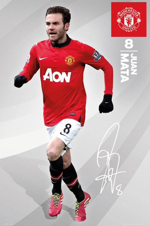 Poster Manchester United FC - Mata 13/14