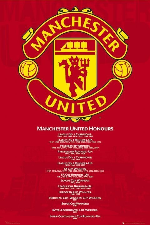 Poster Manchester United - honours
