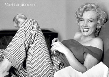 Poster Marilyn Monroe – bed